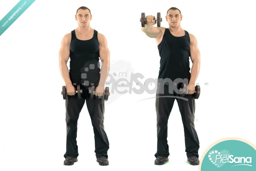 Alternate Standing Dumbbell Front Raise