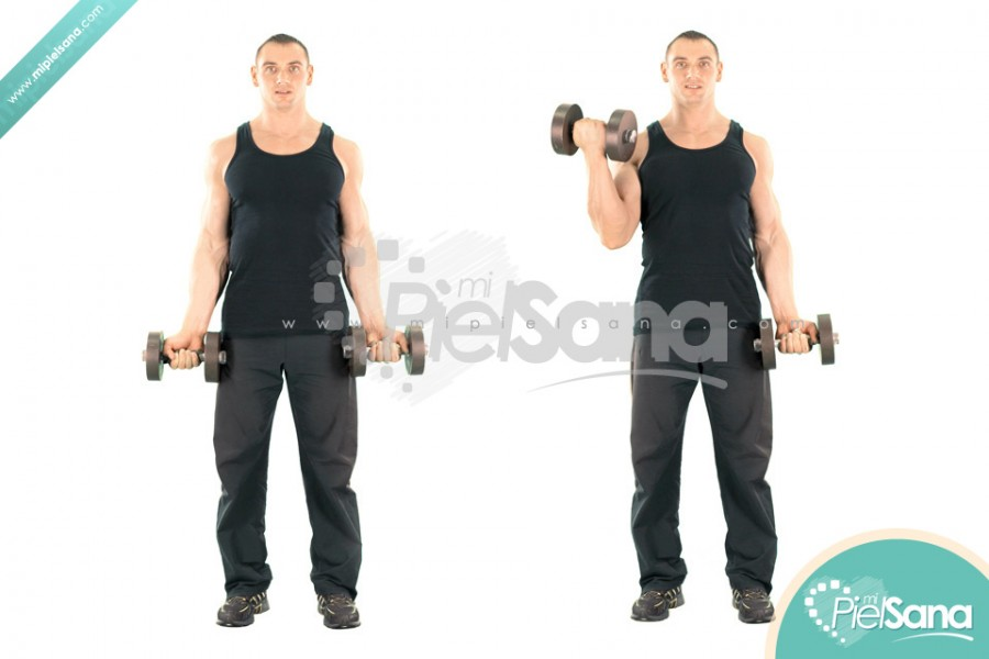 Alternating Standing Dumbbell Curl