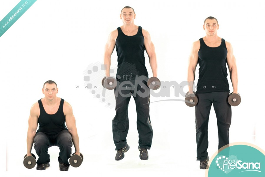 Dumbbell Jumping Squat