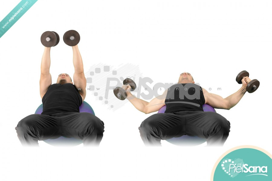 Exercise Ball Dumbbell Flys
