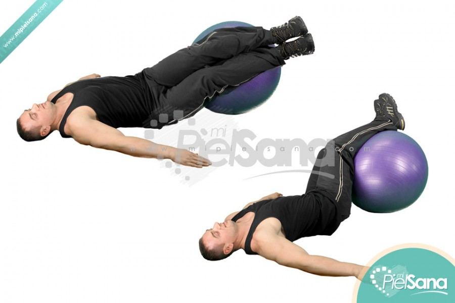 Exercise Ball Hip Roll