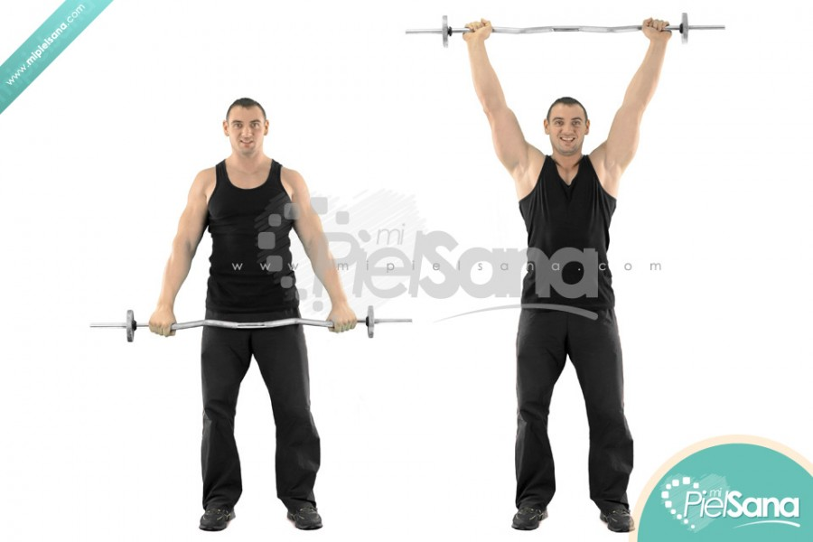 High Barbell Front Raise