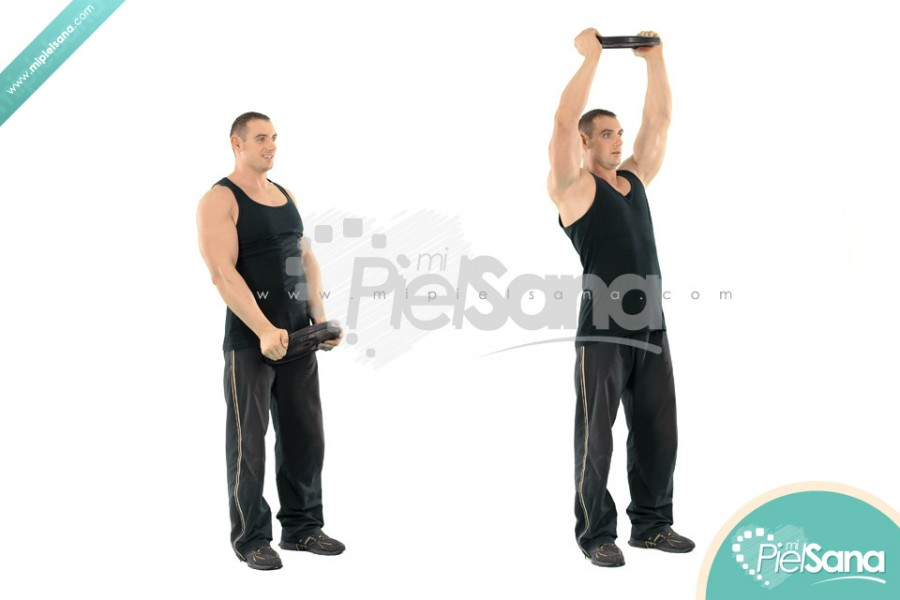 High Weight Plate Front Raise