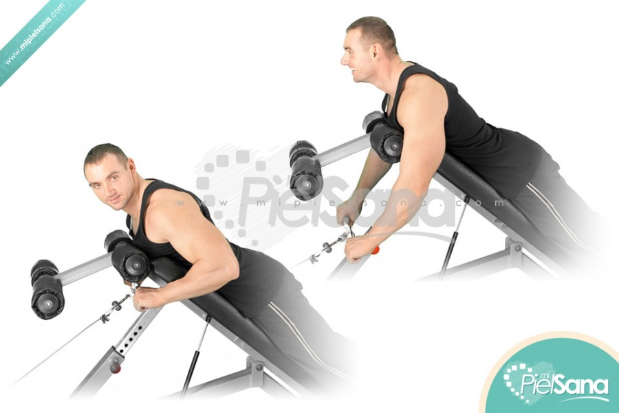 Incline Bench Cable Row