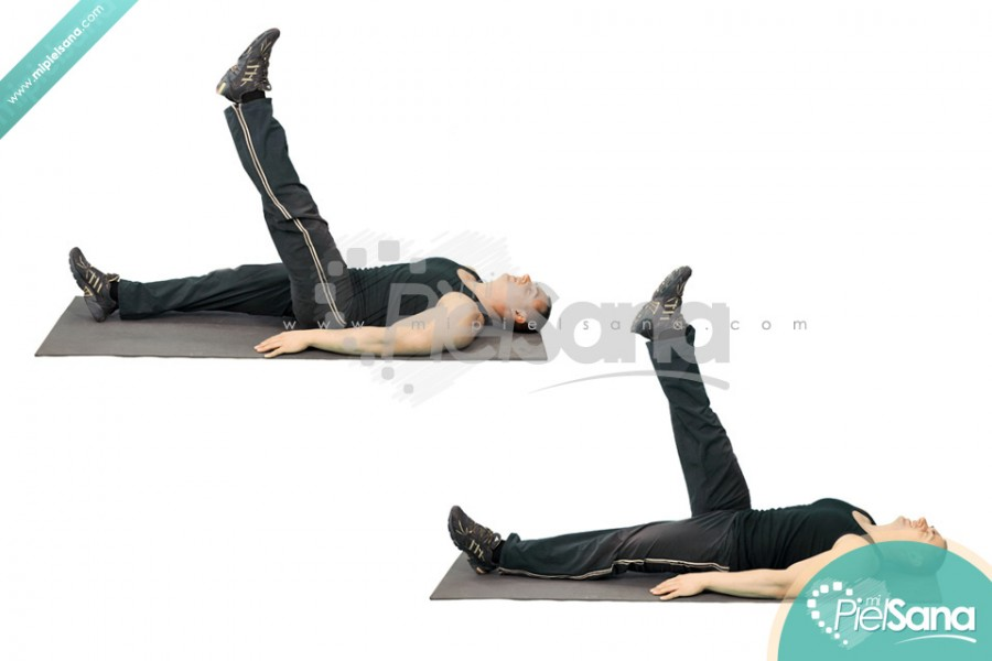 Lying Alternate Floor Leg Raise