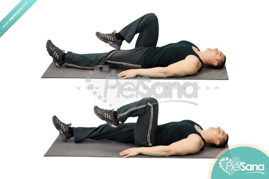 Lying Alternate Knee Raise