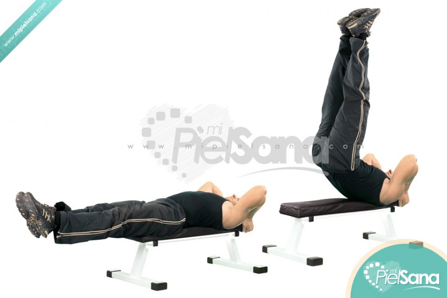 Lying Leg Raise With Hip Thrust