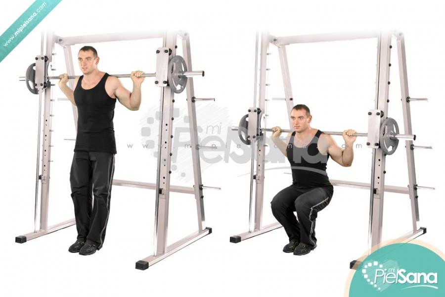 Narrow Smith Machine Squat