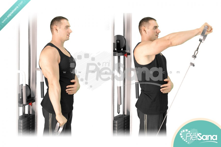 One Arm Cable Front Raise