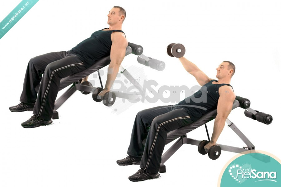 One Arm Dumbbell Front Raise On Incline Bench