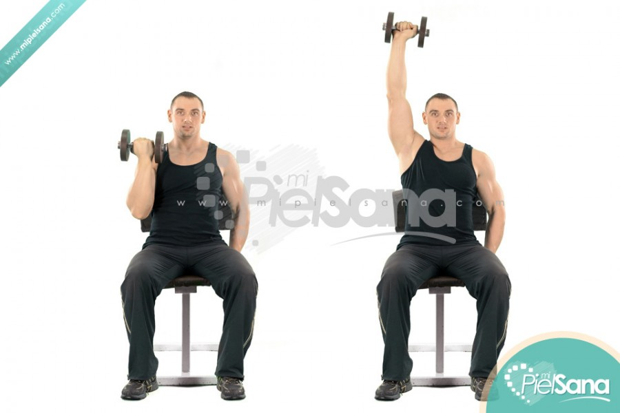 One Arm Seated Arnold Press