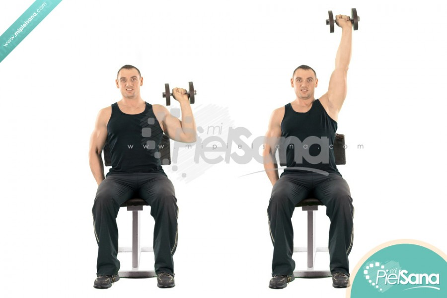 One Arm Seated Dumbbell Press