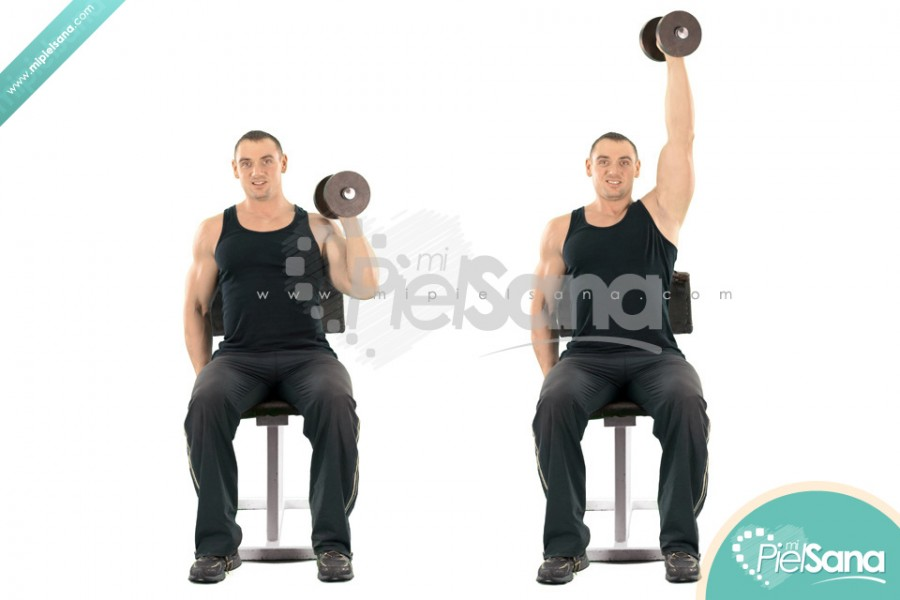 One Arm Seated Palms In Dumbbell Press