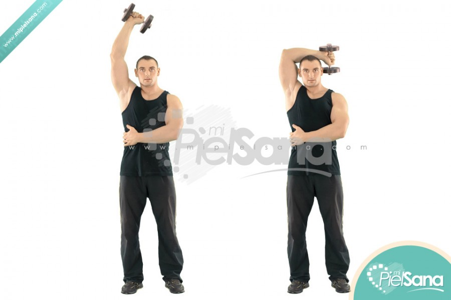 One Arm Standing Dumbbell Extension