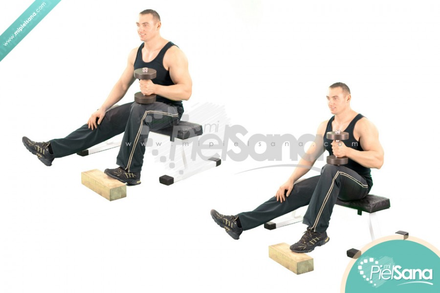 One Leg Seated Dumbbell Calf Raise