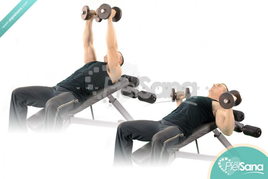 Palms In Incline Dumbbell Bench Press