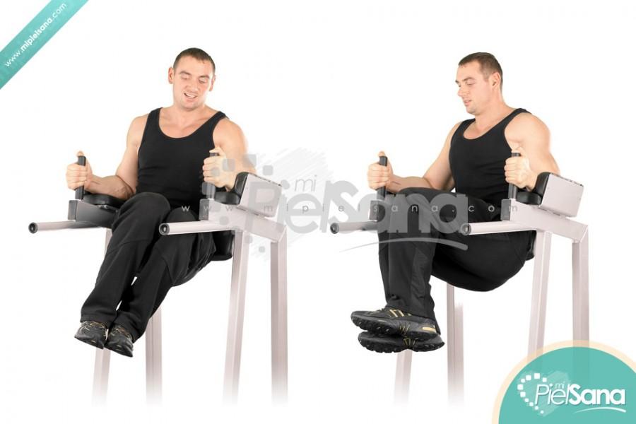 Roman Chair Twisting Knee Raise