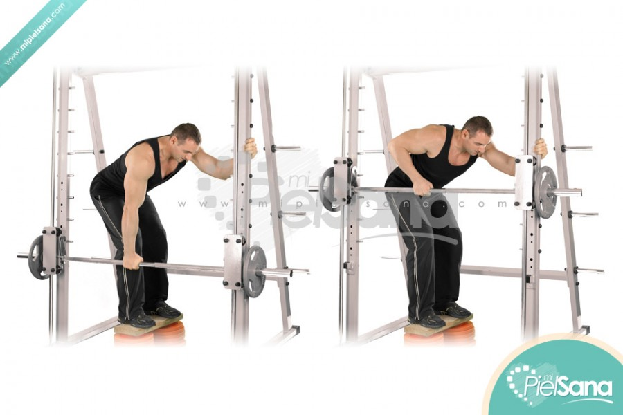 Smith Machine One Arm Row