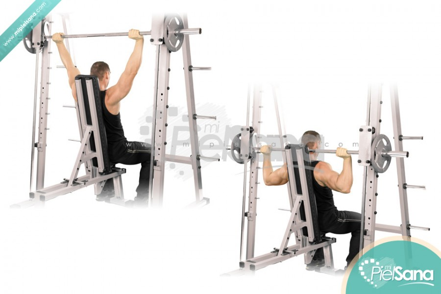 Smith Machine Shoulder Press Behind Neck