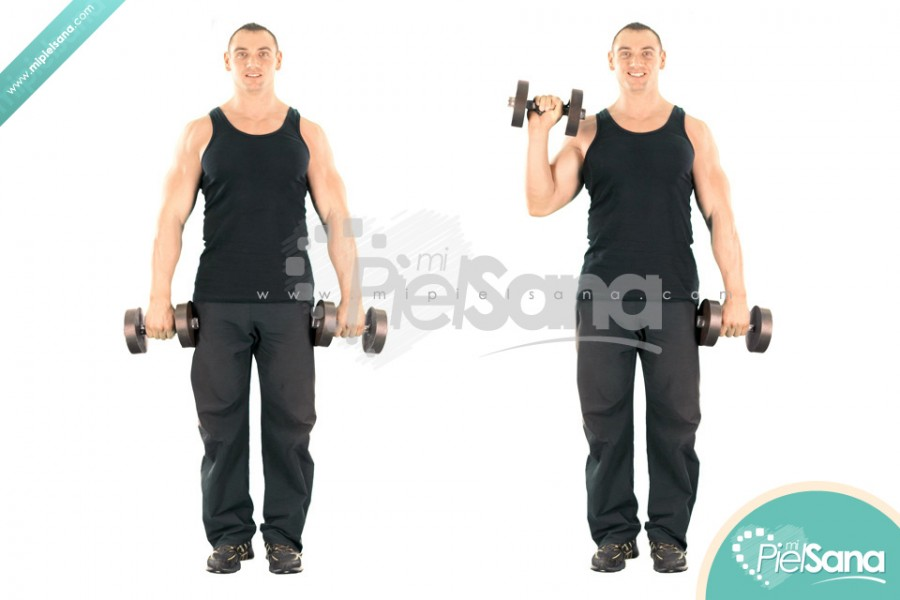 Standing Alternate Dumbbell Reverse Curl