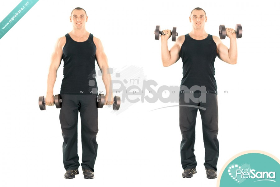 Standing Dumbbell Reverse Curl