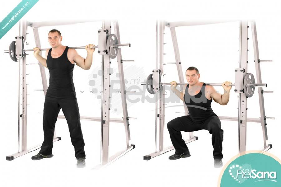 Wide Smith Machine Squat