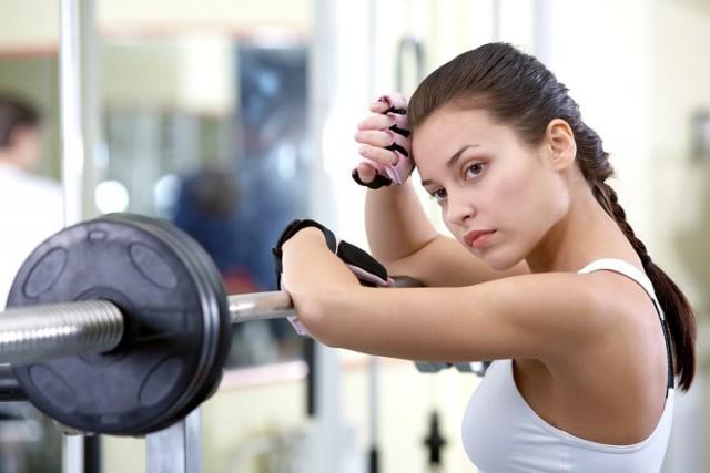 mujer en el gym