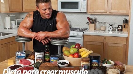 Dieta para crear musculo