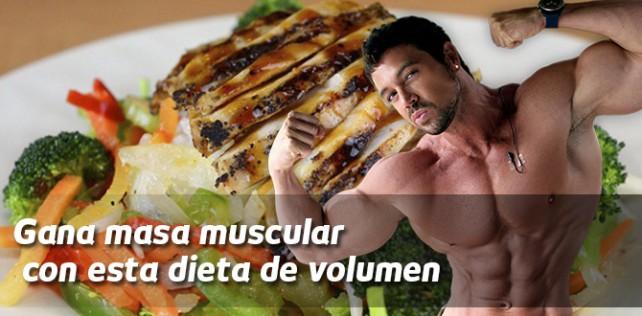 Gana masa muscular con esta dieta de volumen