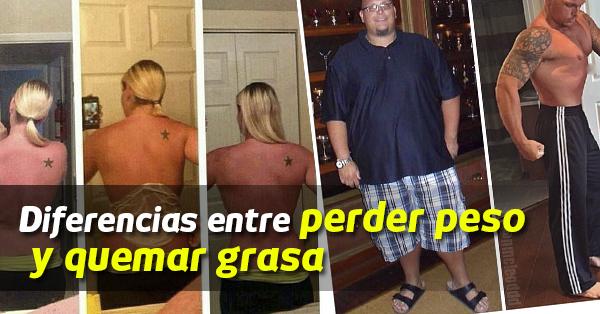 Diferencias entre perder peso y quemar grasa Hierbas para bajar de peso y quemar grasa