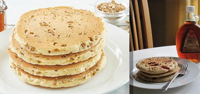 Hotcakes de granola