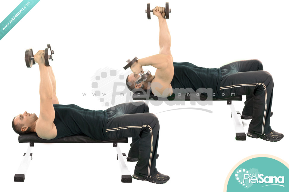 Alternate Lying Dumbbell Extension