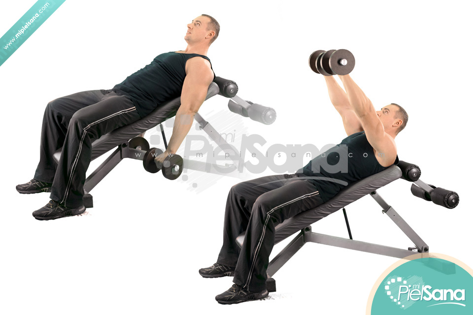 Dumbbell Front Raise On Incline Bench