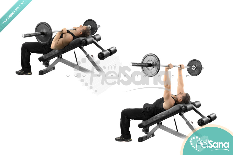 Incline Close Grip Bench Press