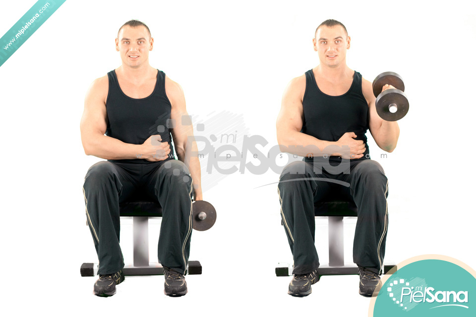 One Arm Seated Hammer Curl