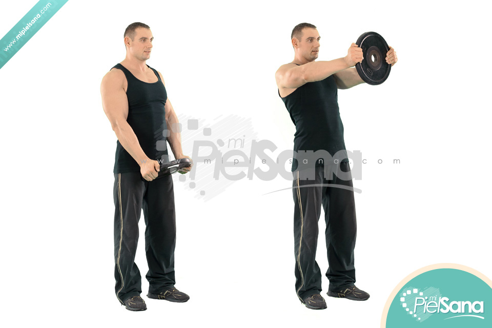 Weight Plate Front Raise