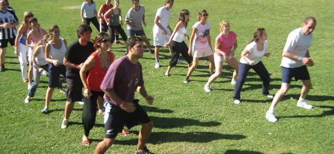 ejercicio al aire libre
