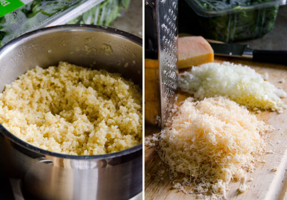Ensalada de calabaza con quinoa proceso