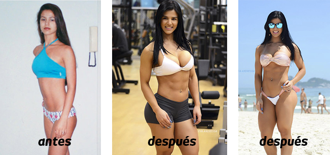 Eva Andressa antes y despues