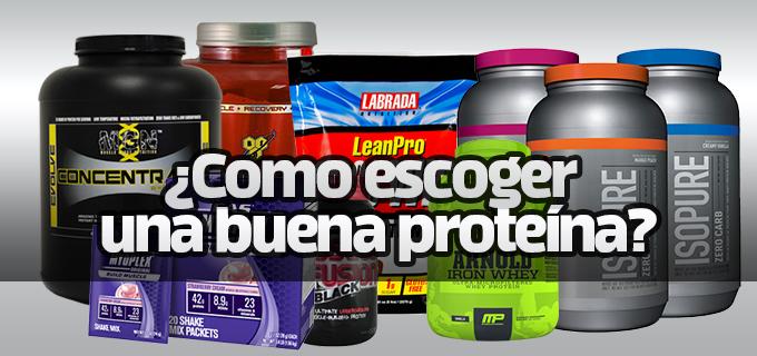 ¿Como escoger una buena proteína para el GYM?