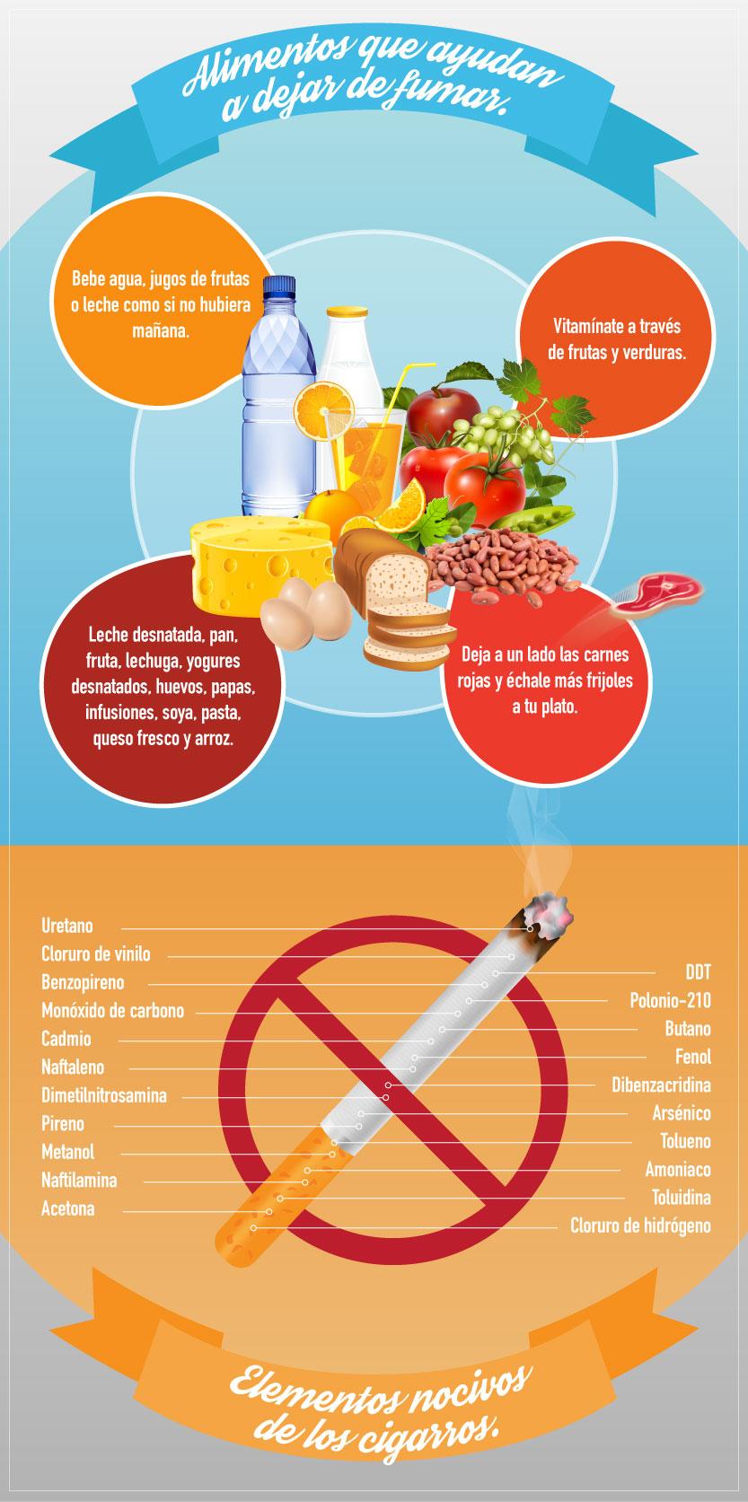 alimentos ayudan dejar fumar