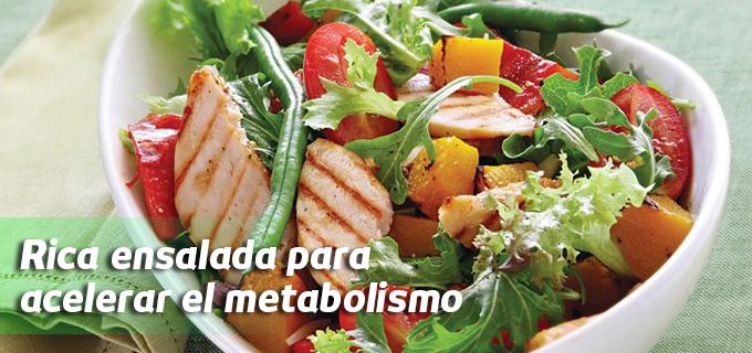 ensalada acelera metabolismo