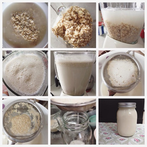 prepara agua de avena