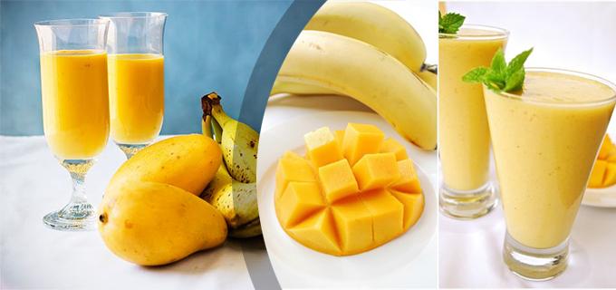 licuado de platano y mango