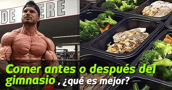 Comer antes o despu s del gimnasio qu es mejor for Gimnasio o gimnacio